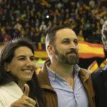 Santiago Abascal y otros miembros de Vox