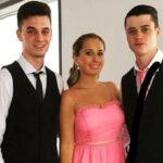 Andrea Janeiro con su novio y su primo