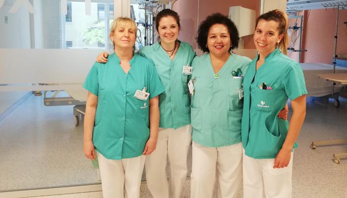 Pilar Márquez, Silvia Arandojo, María Eugenia Espinoza y Rebeca Martínez