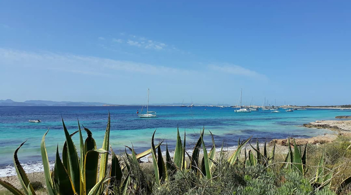 Playa de Ses Iletes, en Formentera