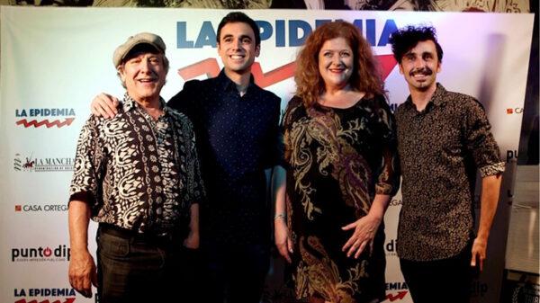 Pablo Conde con los actores Mariano Venancio, Mamen Godoy y Canco Rodríguez