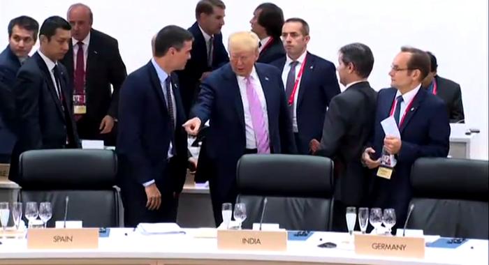 Donald Trump y Pedro Sánchez