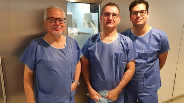 Los doctores Oliver, Olaverri y Lastra