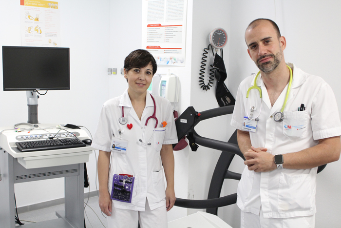Aránzazu María Nuñez y David Mulero, formados en Cardiología