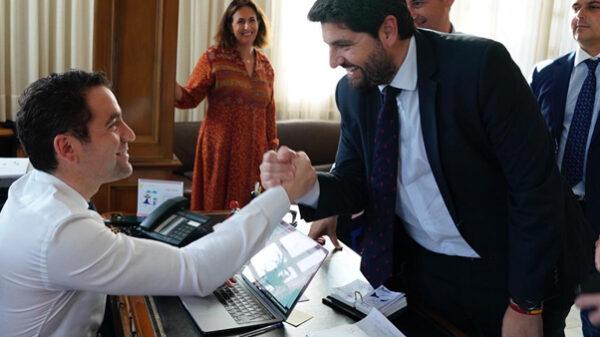 García Egea con López Miras en Murcia
