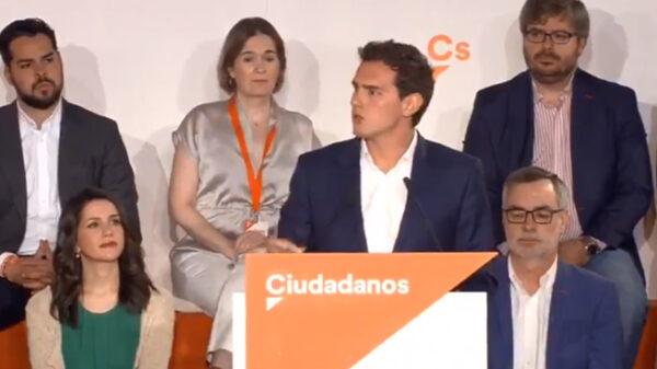 Albert Rivera con parte de su Ejecutiva