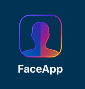 El logo de FaceApp