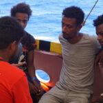 Algunos de los pasajeros del Open Arms