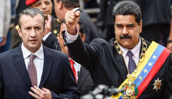 Tareck el Aissimi con Nicolás Maduro