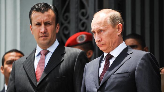 Tareck el Aissami con Vladimir Putin