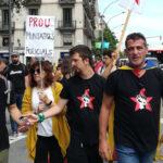 Miembros de los CDR en una manifestación