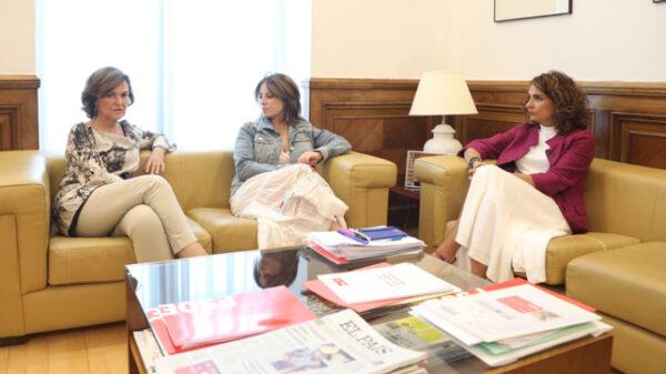 Carmen Calvo, Adriana Lastra y María Jesús Montero
