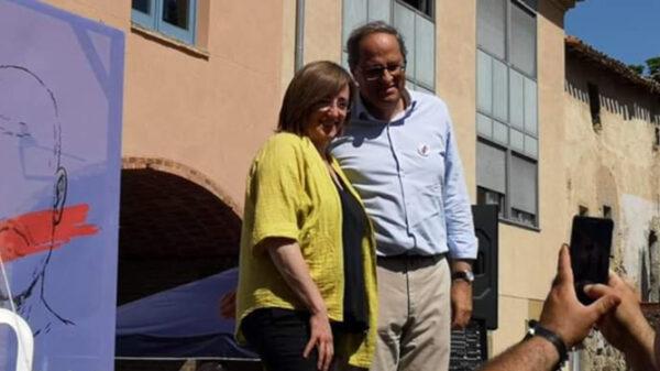 Anna Puigdemont junto a Quim Torra (Twitter)