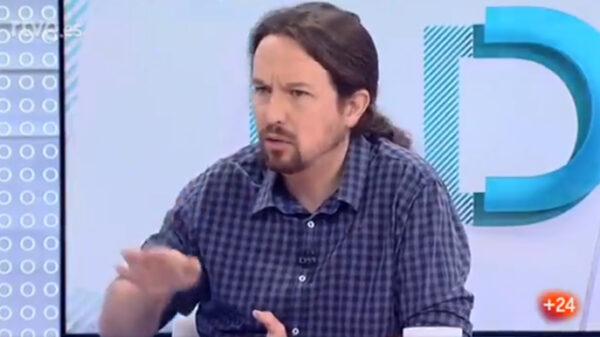 Pablo Iglesias en una entrevista para TVE