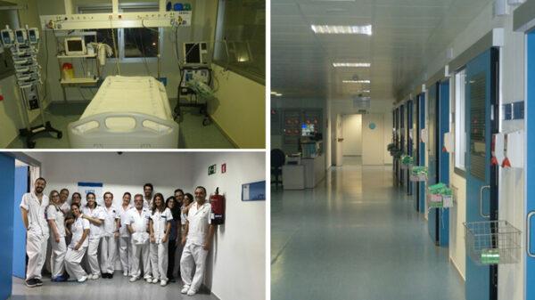Instalaciones de la UCI del Hospital Universitario Infanta Elena, y la Doctora García Torrejón con el equipo del servicio