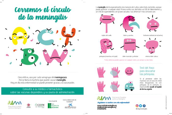 Folleto de la campaña 'Cerremos el círculo de la meningitis'