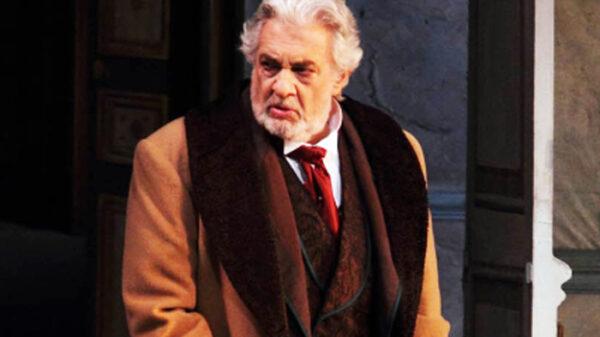 Plácido Domingo durante una actuación