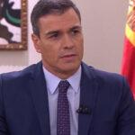 Pedro Sánchez durante su entrevista en La Sexta