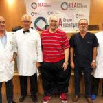 El equipo médico y Teo Rodríguez