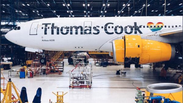 Un avión de la empresa Thomas Cook