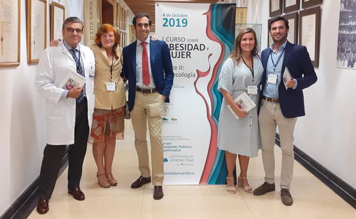 De izquierda a derecha, los doctores Manuel Albi, Vázquez, Orozco, Beatriz Albi y Utrilla
