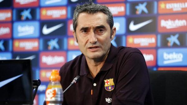 El entrenador del F,C. Barcelona, Ernesto Valverde