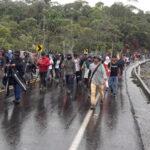 Protestas de los indígenas en Ecuador