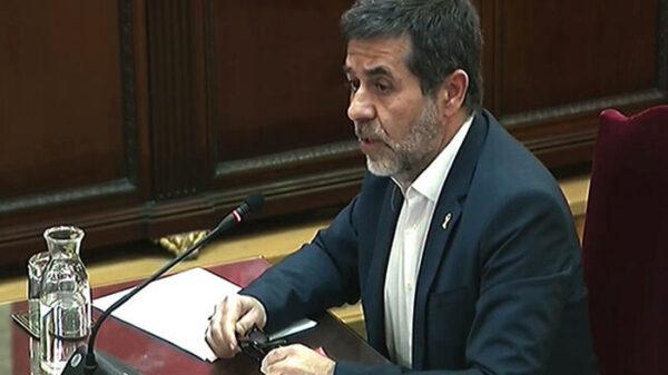 Jordi Sánchez en el juicio del 1-O