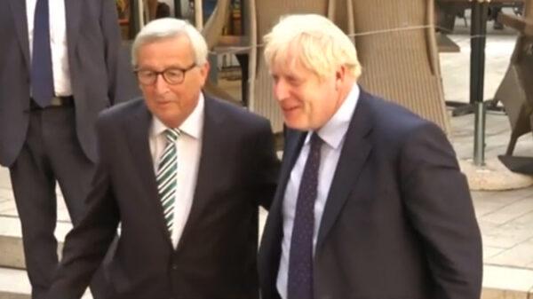 Jean-Claude Juncker y Boris Johnson