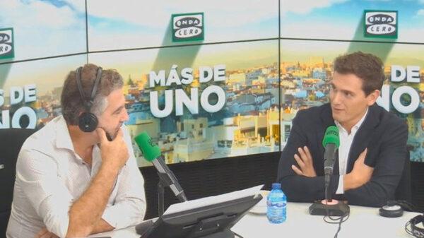 Albert Rivera en una entrevista en Onda Cero