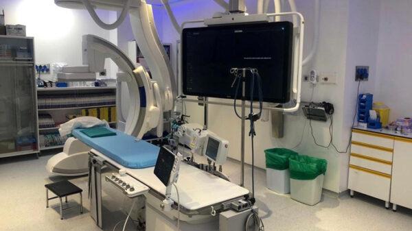 Sala del Servicio de Radiología Vascular e Intervencionista del Hospital General de Villalba