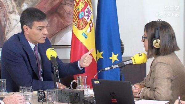 Pedro Sánchez en 'Hoy por Hoy' de Cadena Ser