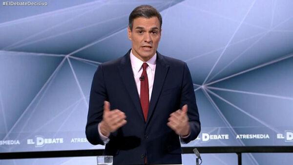 Pedro Sánchez en pleno debate