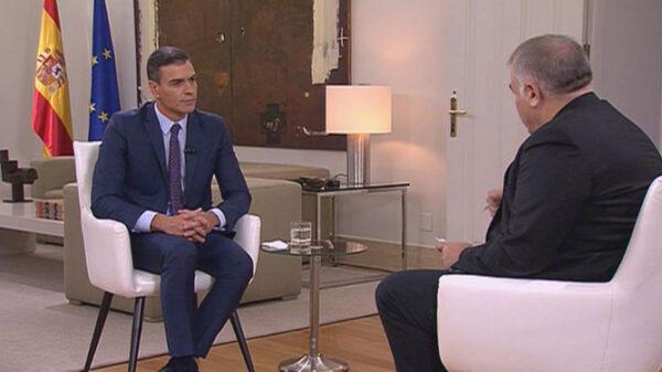 Pedro Sánchez con Antonio García Ferreras