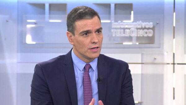 Pedro Sánchez en una entrevista en Telecinco