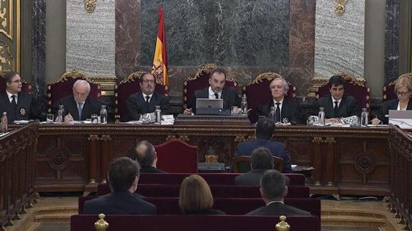 Los jueces del Supremo en el juicio por el 1-O