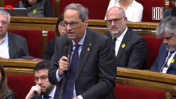 Quim Torra en el Parlamento catalán