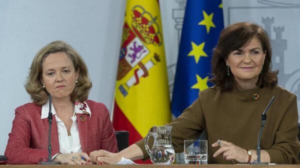 Carmen Calvo y Nadia Calviño