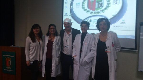Organizadores y ponentes de la jornada de Taller de nutrición