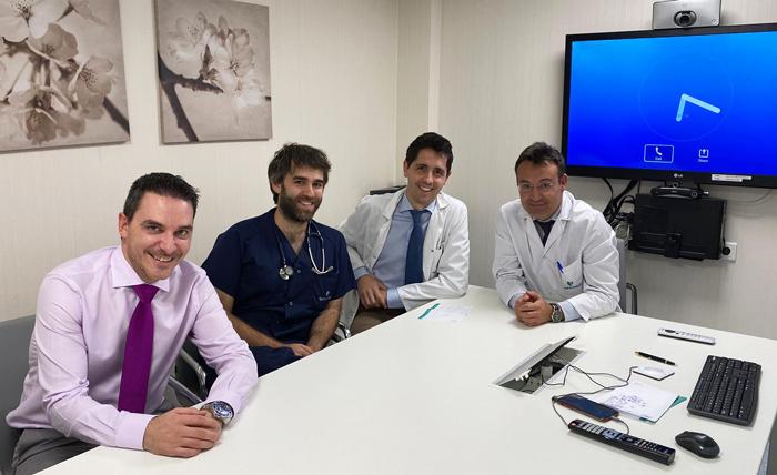 Los doctores Cristian Iborra, Álvaro Lozano, Daniele Gemma y Roberto Martín Reyes