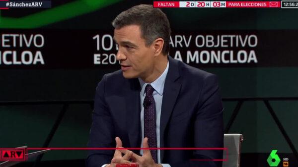 Pedro Sánchez en 'Al Rojo Vivo'