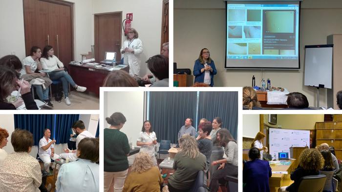Varios momentos de las sesiones del taller