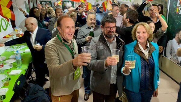 La sede de Vox en Murcia, de celebración tras las elecciones
