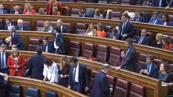 Congreso en la sesión constitutiva de las Cortes