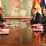 La mesa de negociación de investidura de PSOE y ERC