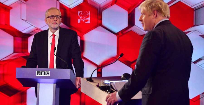 Jeremy Corbyn y Boris Johnson