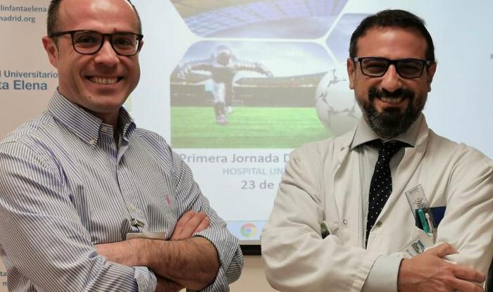 Los doctores Macera (izquierda) y Suárez (derecha)