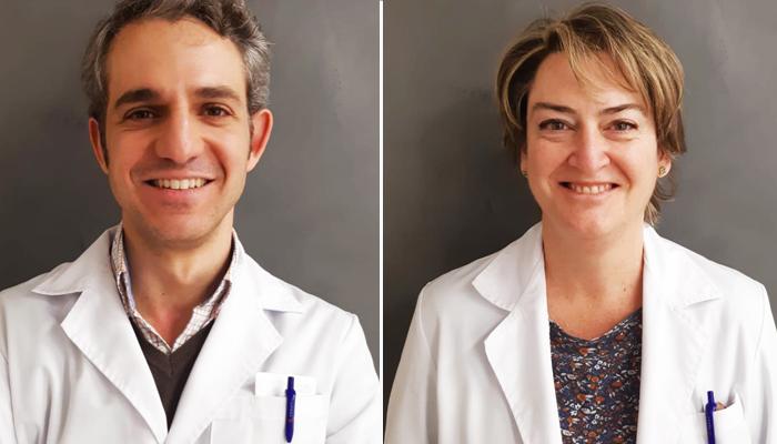 El doctor Ricardo Moreno y la doctora Elena Sánchez