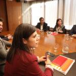 Los equipos negociadores de PSOE y ERC