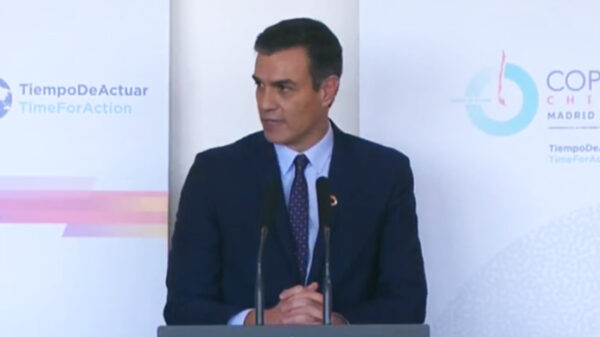 Pedro Sánchez en la cumbre del clima